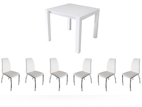 Arlo Extending Dining Table & 6 Arlo Chairs