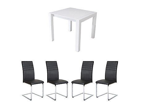 Arlo Extending Dining Table & 4 Alcora Chairs