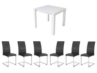 Arlo Extending Dining Table & 6 Alcora Chairs