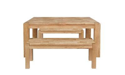 Cargo Portsmore Extending Dining Table & 2 Benches