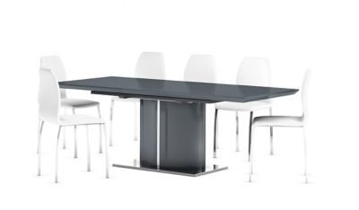 Ramira Grey Extending Dining Table & 6 Arlo Chairs