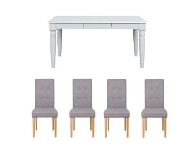 Henslow Fixed Dining Table & 6 Lucy Chairs