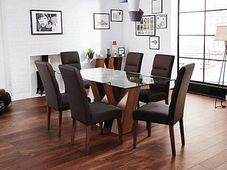 piston dining table u0026 6 piston chairs
