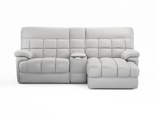 Oklahoma Right Hand Facing 3 Seater Recliner Sofa With Chaise Media Tray