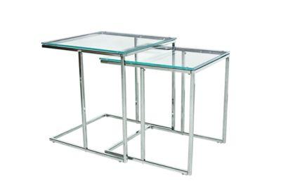 Harveys Gianna Nest Of 2 Tables glass / chrome - Harveys Sofas By You