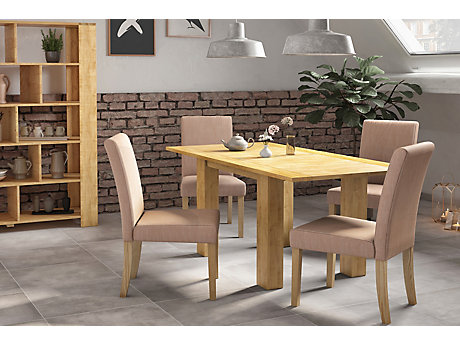 Dovetail Flip Top Dining Table & 4 Lucy Chairs