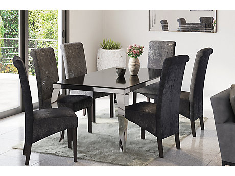 Antonella Dining Table and 4 Darcy Glitz Edition Chairs
