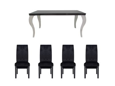 Antonella Dining Table and 6 Darcy Glitz Edition Chairs