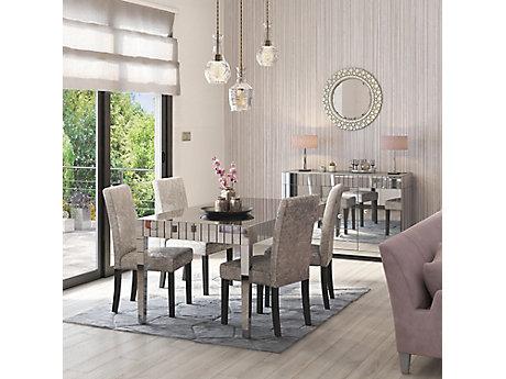 Lourdes Dining Table 4 Georgia Glitz Edition Chairs