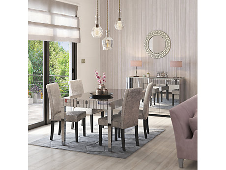 Lourdes Dining Table 4 Georgia Glitz Edition Chairs