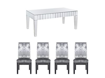 Lourdes Dining Table & 6 Darcy Glitz Edition Chairs