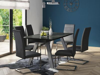 Romano Extending Dining Table & 6 Alcora Chairs