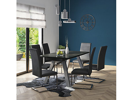 Romano Extending Dining Table 6 Alcora Chairs