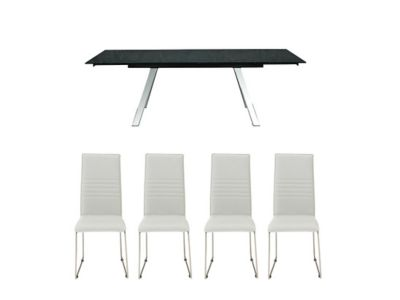 Romano Extending Dining Table & 4 Nova Chairs