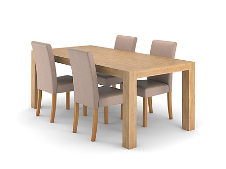 Lindos Dining Table & 4 Taya Chairs