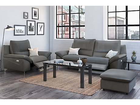 Balotelli 3 Seater Sofa With 2 Electric Recliner Actions