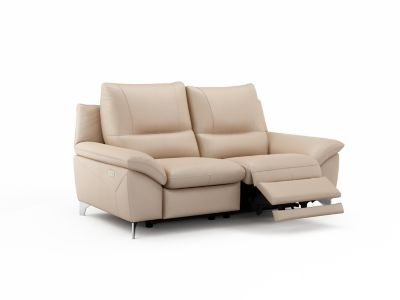Harveys Balotelli 2 Seater Leather with 2 Electric Incliner Actions