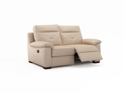 Harveys Alfonso 2 Seater Leather with Manual Incliner Action