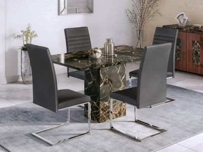 Capri Dining Table And 4 Capri Chairs