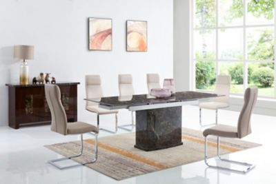 Pompeii Dining Table And 6 Cantilever Chairs