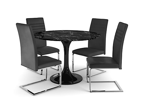 Torano Dining Table & 4 Capri Chairs