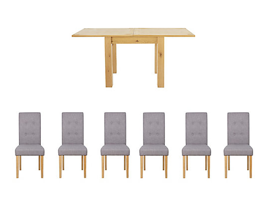 Dovetail Flip Top Dining Table 6 Lucy Chairs