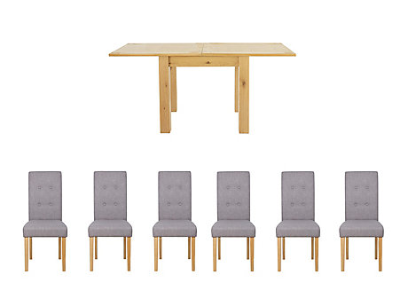 Dovetail Flip Top Dining Table & 6 Lucy Chairs