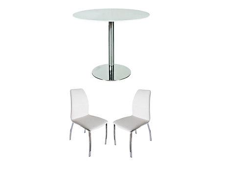 Ezra Dining Table & 2 Arlo Chairs