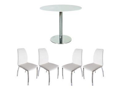 Ezra Dining Table & 4 Arlo Chairs