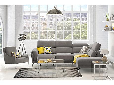 Grey Cloth Corner Sofa Brokeasshome Com