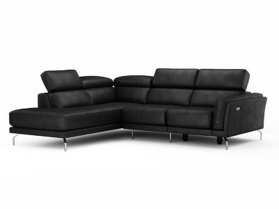 Leather Corner Sofa Group Left Hand Facing with Ratchet Headsets & Electric Incliner Action - Harveys Palucci