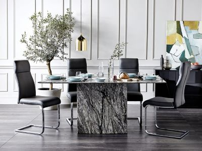 Novara Dining Table & 4 Dining Chairs