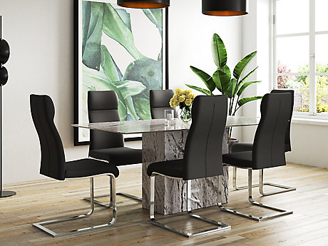 Novara Dining Table U0026 6 Dining Chairs ...