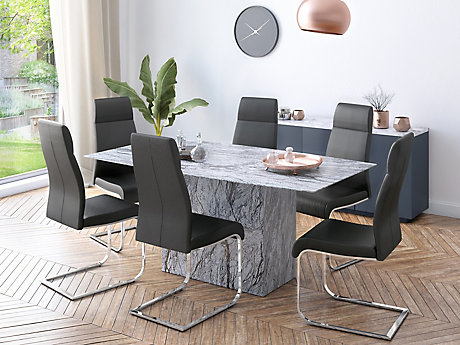 ... Novara Dining Table U0026 6 Dining Chairs