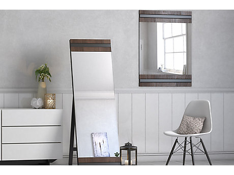 Vieux Black Wall Mirror
