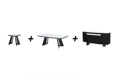 Harveys Amalia Lamp Table & Coffee Table & Sideboard glass steel