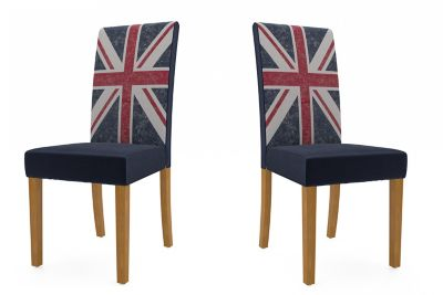 Georgia Union Jack Chairs (Pair)