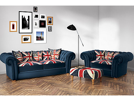 Union Jack Winslet 3 Seater Sofa