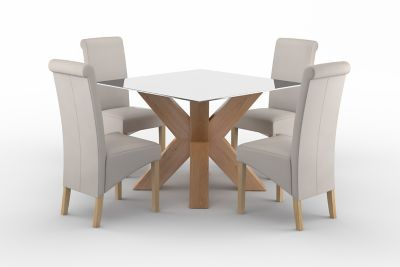 Neive Dining Table & 4 Darcy Chairs
