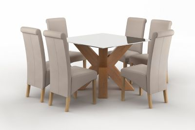 Neive Dining Table & 6 Darcy Chairs