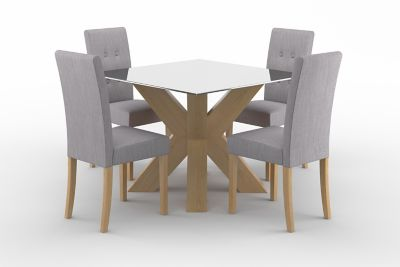 Neive Dining Table & 4 Lucy Chairs
