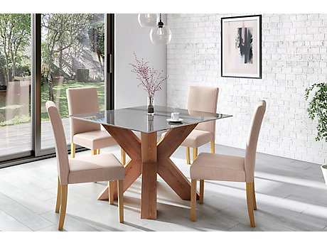 Neive Dining Table & 6 Lucy Chairs