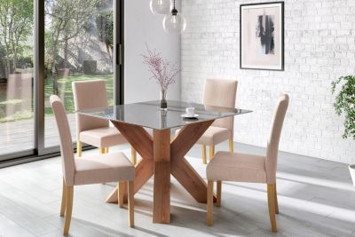 Neive Dining Table & 6 Taya Chairs