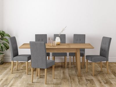 Onslow Large Extending Dining Table & 6 Lucy Chairs