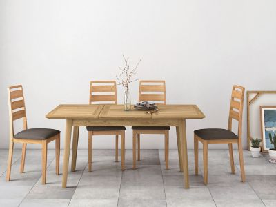 Onslow Extending Dining Table & 4 Ladderback Chairs