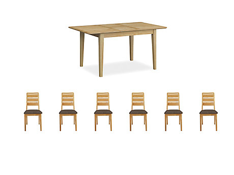 Onslow Extending Dining Table & 6 Ladderback Chairs