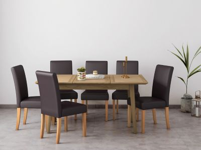 Onslow Extending Dining Table & 6 Taya Chairs