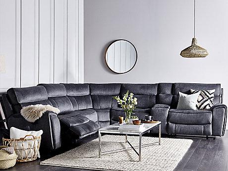 Corner Sofas - Leather & Fabric Suites | Harveys Furniture