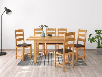 Brackley Small Extending Dining Table & 6 Chairs