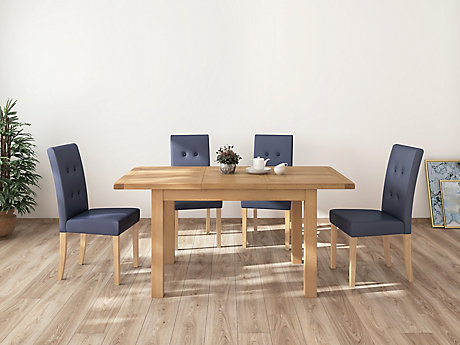 Brackley Small Extending Dining Table & 4 Lucy Chairs